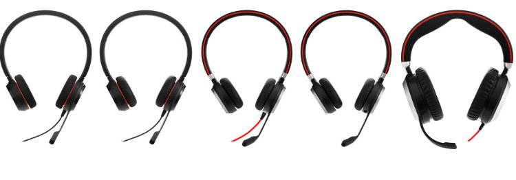Jabra Evolve Corded Headsets