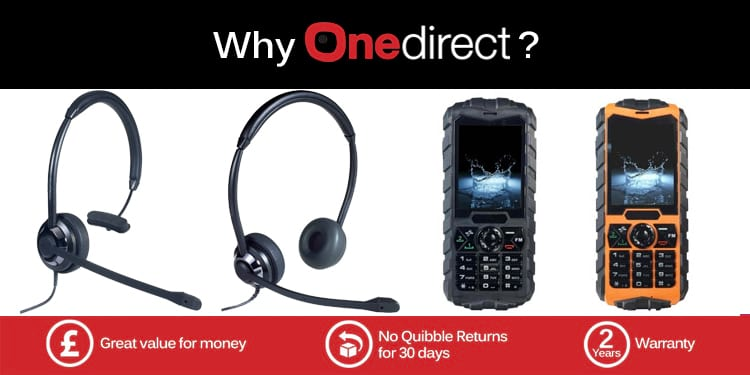 Onedirect Tough Mobile Phones and HeadsetsOnedirect Tough Mobile Phones and Headsets